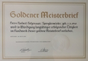 Goldener Meisterbrief