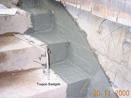 Seitlicher Treppenabschluss